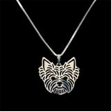 Elegant Yorkshire Terrier Necklace, 18k Gold or Silver Plated