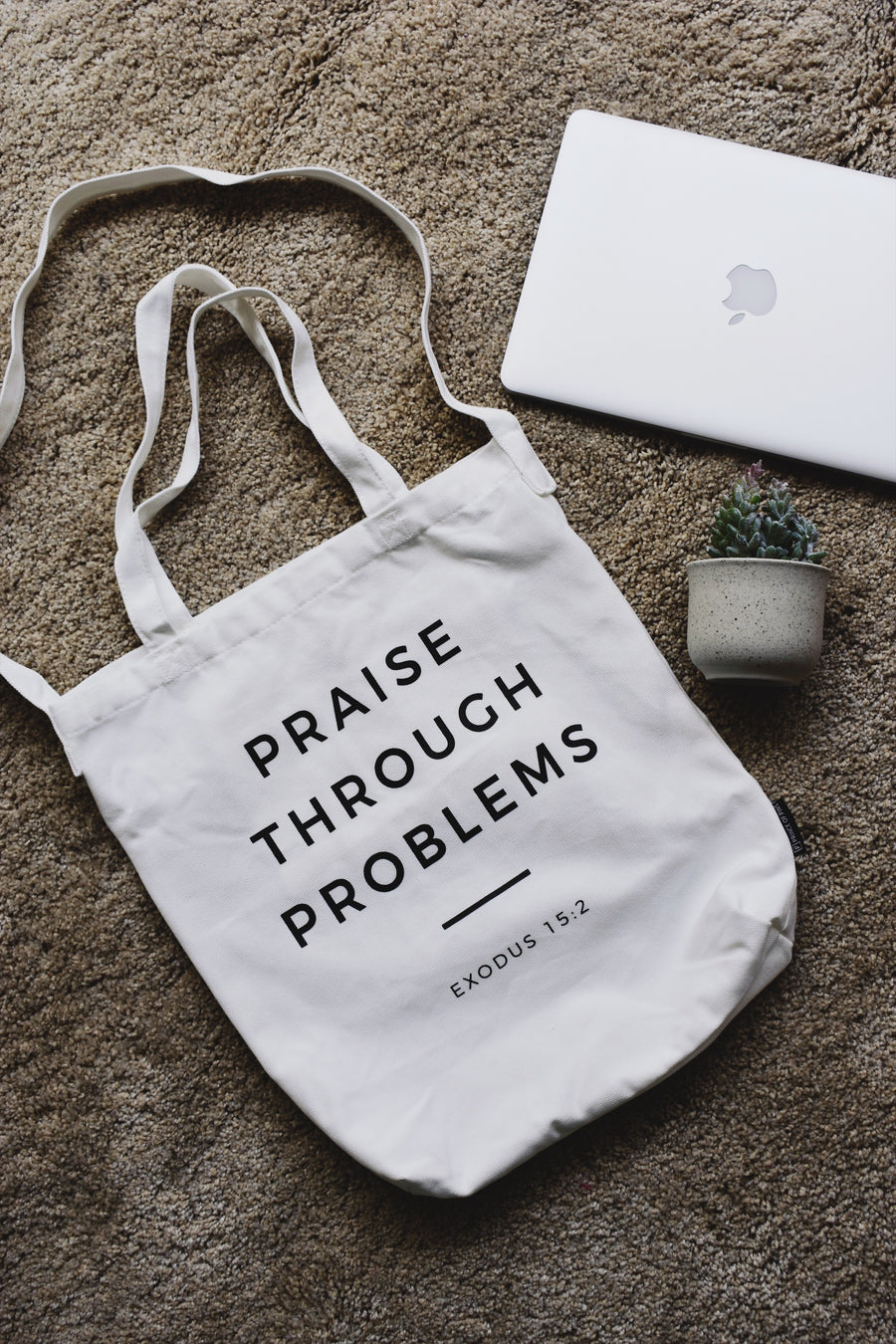 PRAISE THROUGH PROBLEMS Tote Bag - Prince of Pins