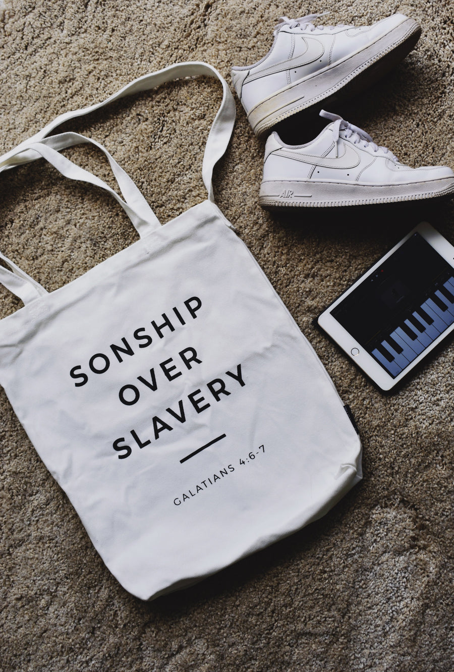 SONSHIP OVER SLAVERY Tote Bag - Prince of Pins