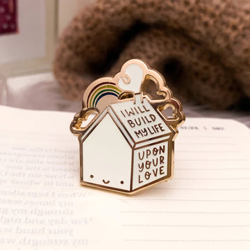 BUILD MY LIFE (GOLD) ENAMEL PIN