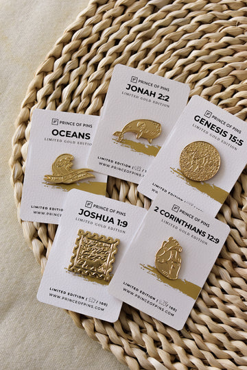 #GOLD Enamel Pins Bundle Deal