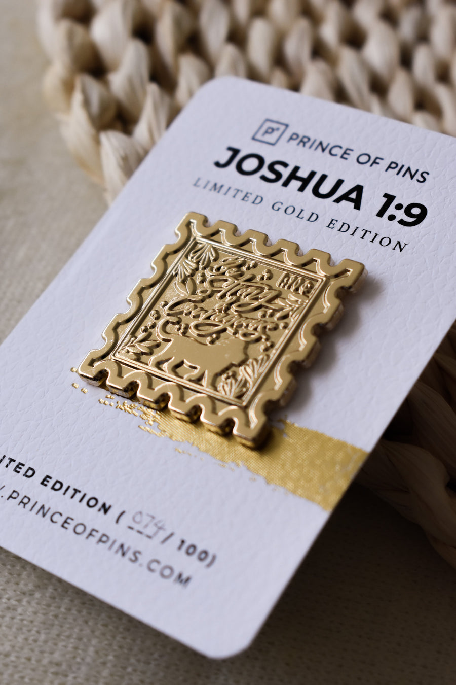 Joshua 1:9 (GOLD) Enamel Pin