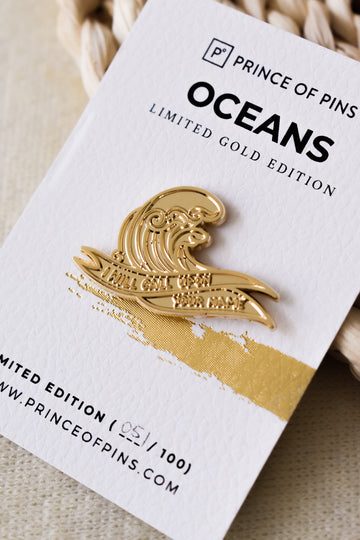 Oceans (GOLD) Enamel Pin