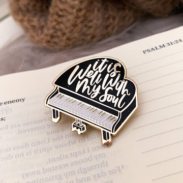 IT IS WELL WITH MY SOUL (SPACE BLACK) ENAMEL PIN