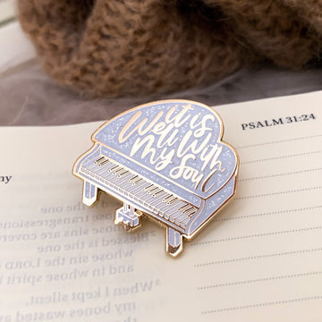 IT IS WELL WITH MY SOUL (WHITE) ENAMEL PIN