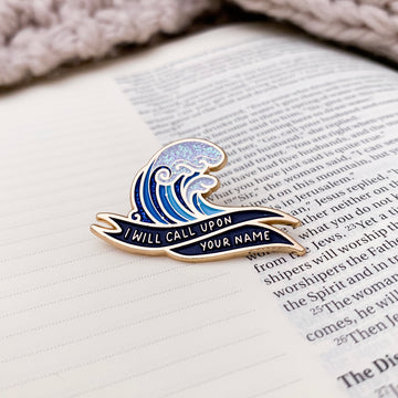 Oceans Christian Enamel Pins Front View | PRINCE OF PINS
