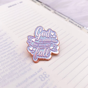 Psalm 46:5 Enamel Pins (Rose Gold)