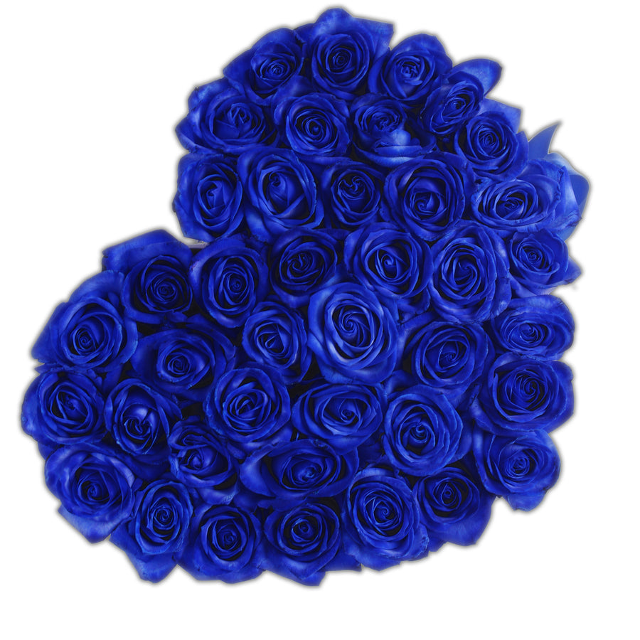 Heart - Blue Roses - White Box - The Million Roses Budapest