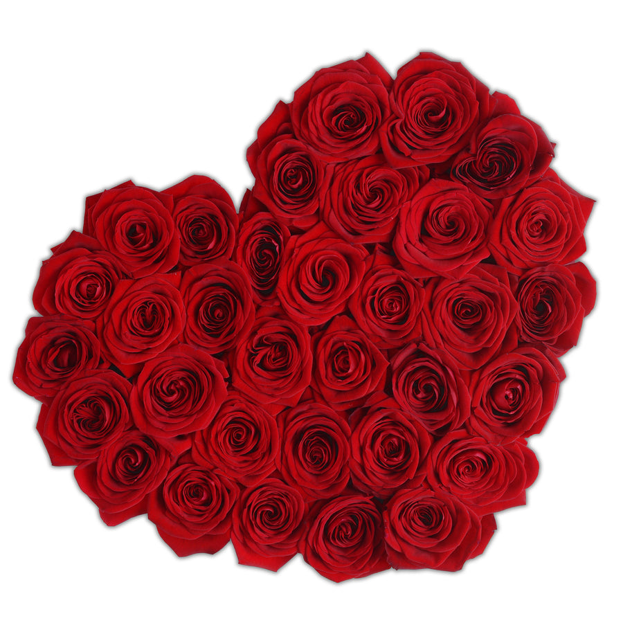 Heart - Red Roses - Black Box - The Million Roses Budapest
