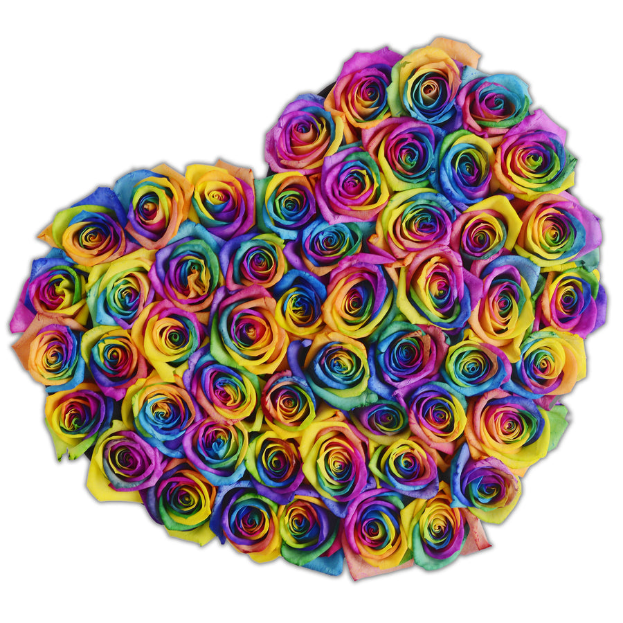 Heart - Rainbow Roses - Black Box - The Million Roses Budapest
