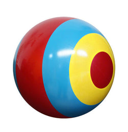 Inflate-A-Ball - Bullseye Ball (Pink, yellow, and blue)