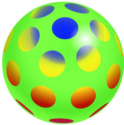 Inflate-A-Ball - Green Ball with Polka Dots