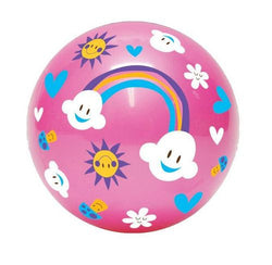 Inflate-A-Ball - Pink Ball with Clouds and Rainbows