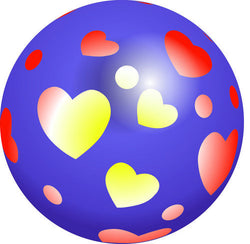 Inflate-A-Ball - Purple Ball with Hearts