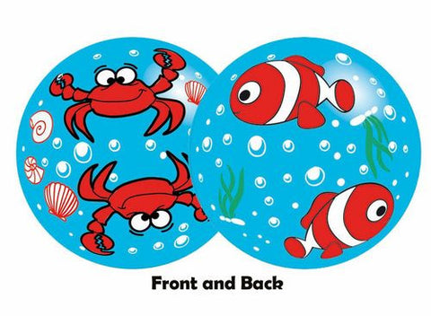Inflate-A-Ball - Blue Ball with Crabs and Fish