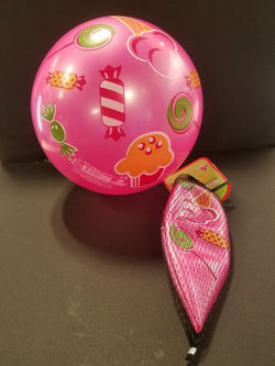 Inflate-A-Ball - Pink Ball with Cupcakes and Candy
