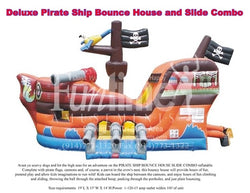 Deluxe Pirate Ship Bounce Castle with Slide