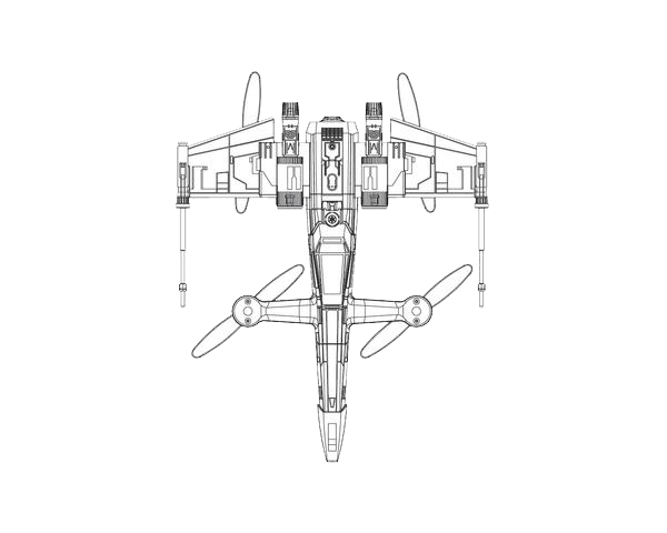 X-Wing Complete Body