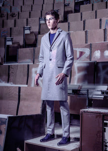Men's Long Grey Coat