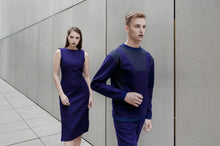 Load image into Gallery viewer, Unisex Futuristic Sweater Purple
