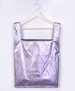 Metallic Purple Reversible Tote Bag