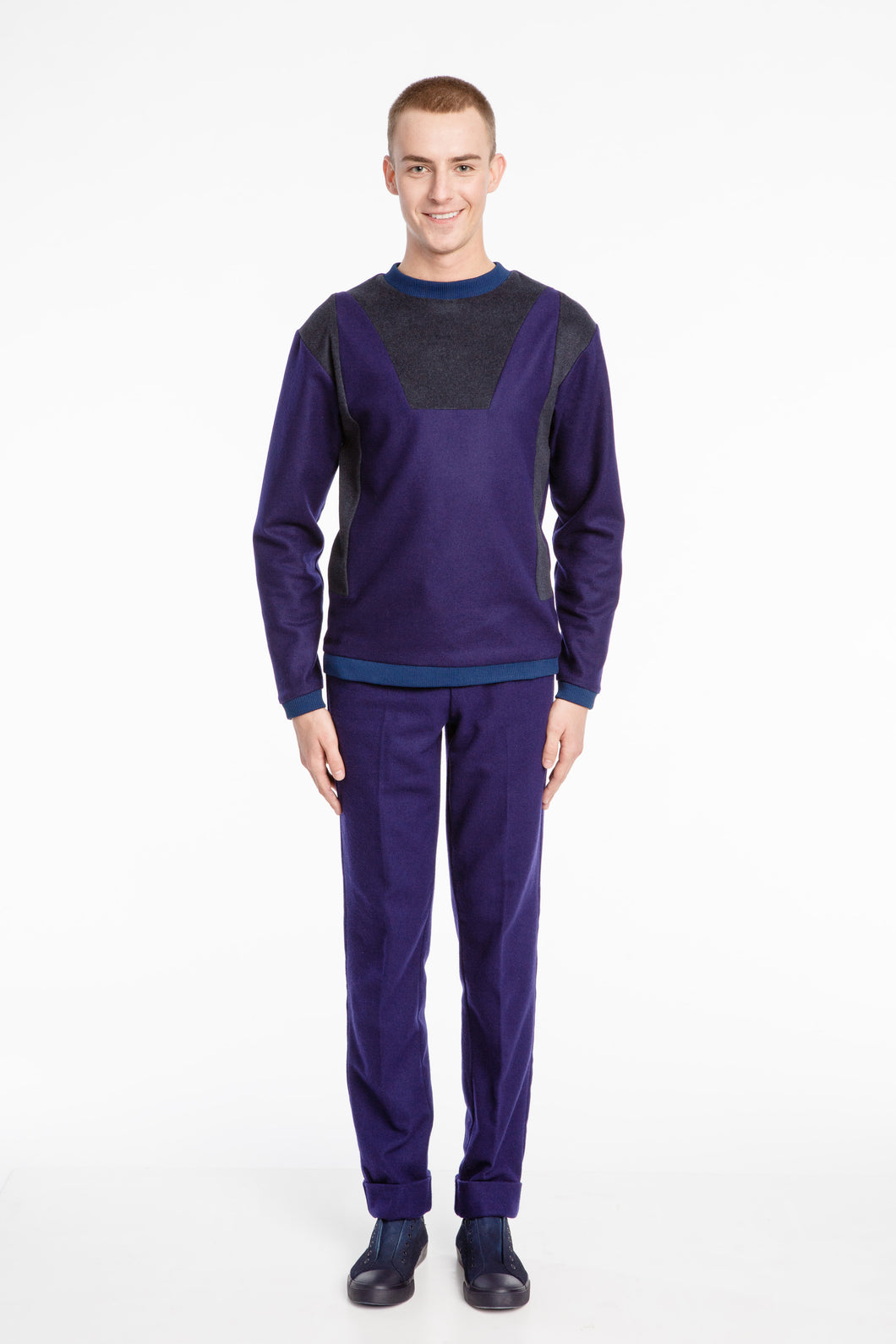 Unisex Futuristic Sweater Purple