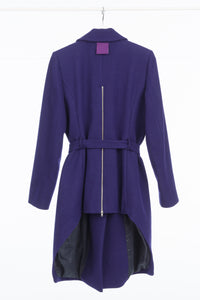 Woman's Purple Asymmetrical Coat