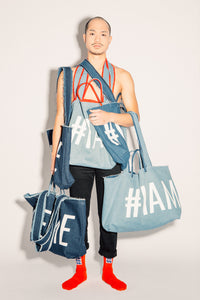 #IAMSLUT denim bag