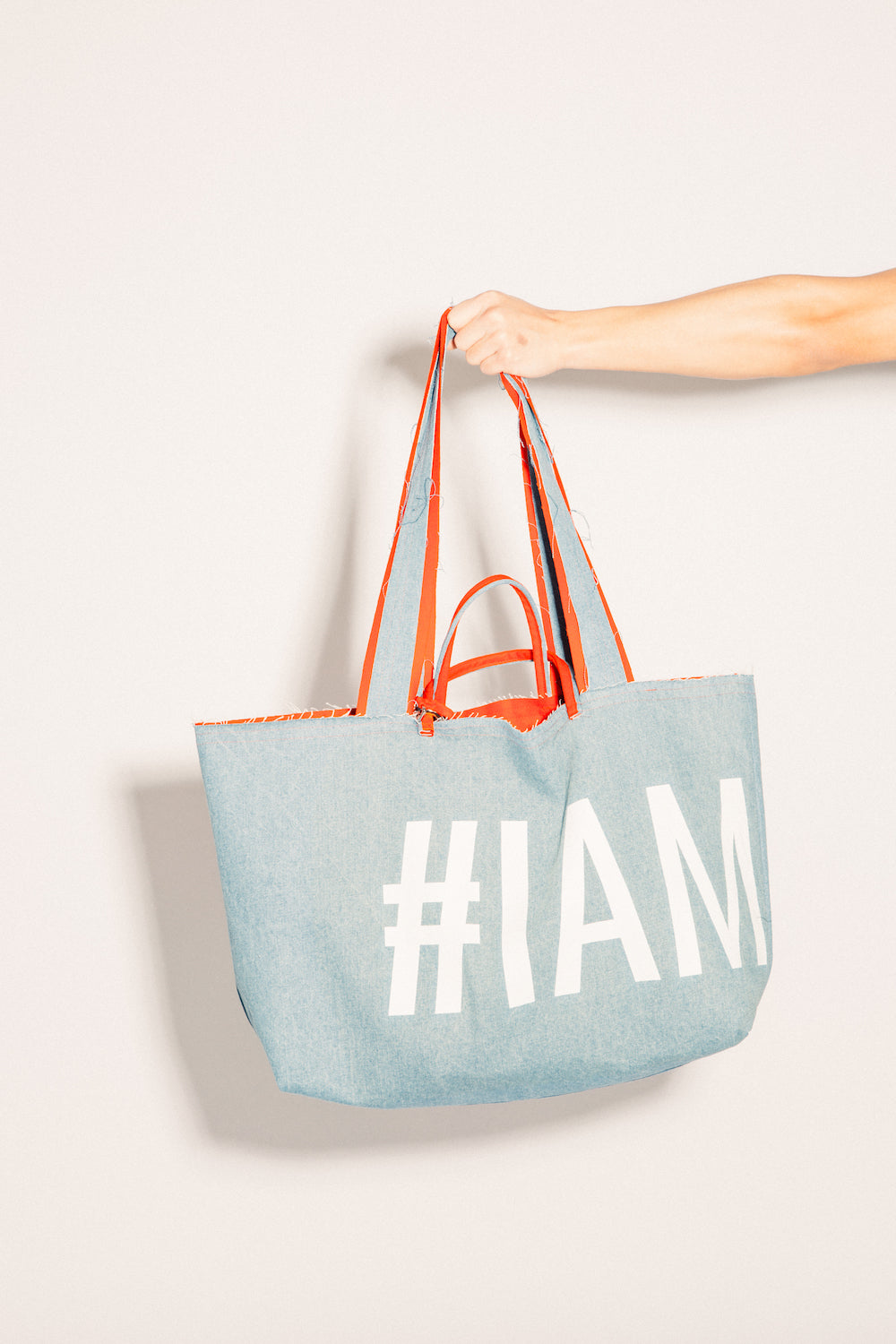 #IAMSLUT denim&wool bag