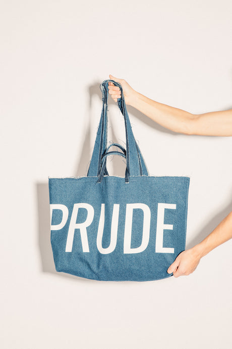 #UAREPRUDE denim bag