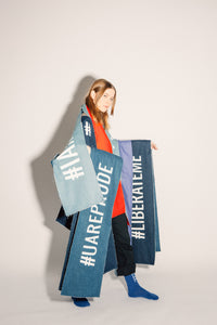 Denim Scarf - #LIBERATEME
