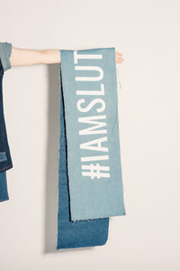 #IAMSLUT denim scarf