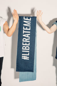 #LIBERATEME denim scarf
