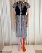 Load image into Gallery viewer, 50% Upcycled Shirt Dress Patchwork