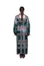 Load image into Gallery viewer, Green Houndstooth Long Dress