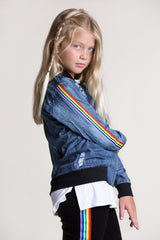 Flowers by Zoe Rainbow Bomber Jacket
