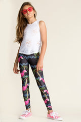 Terez Anything Flamingo Leggings