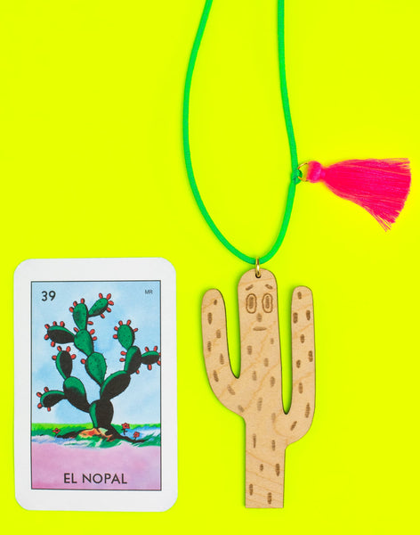 Ghost Cactus Necklace