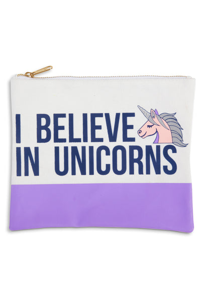 I Believe In Unicorns Travel Pouch