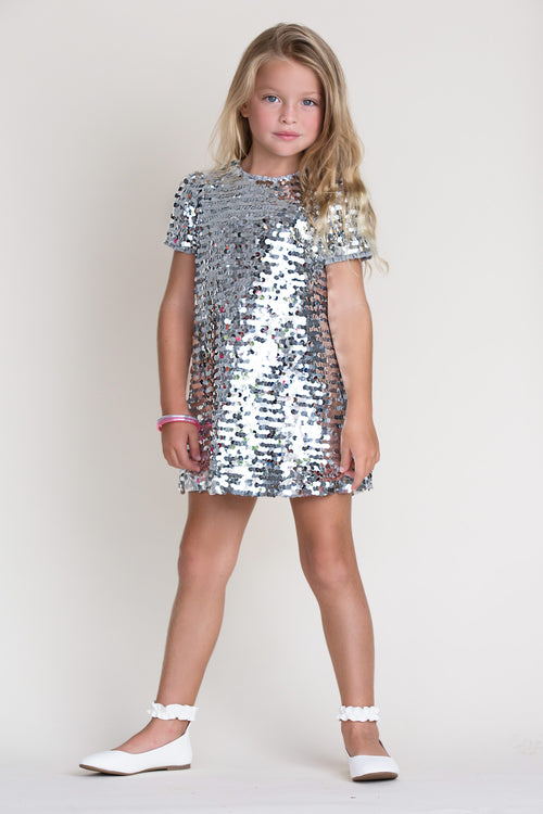 Coco Silver Sequins Dress