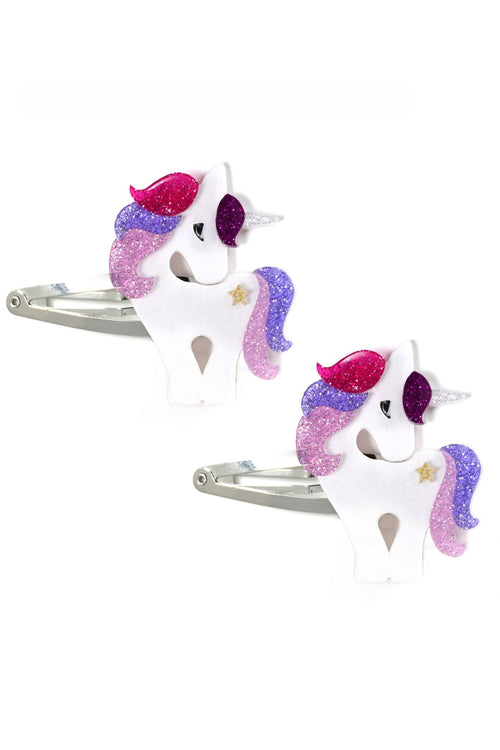 lilies & roses unicorn hair clips