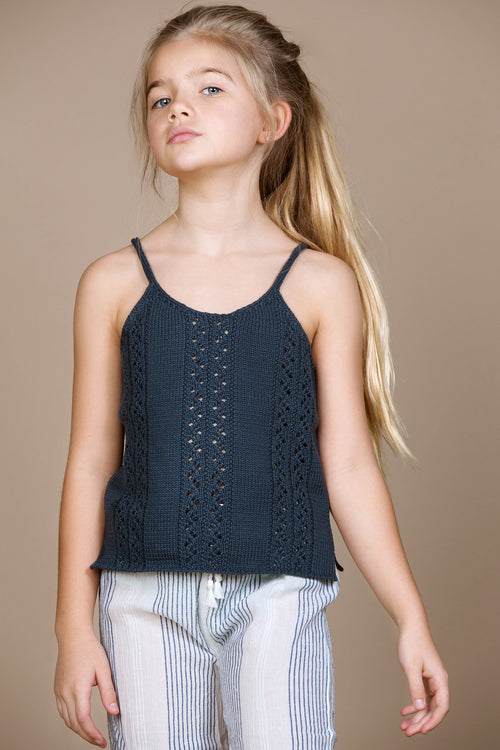 Luna Knit Top Navy