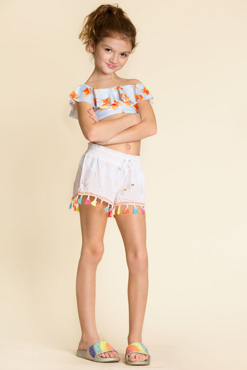 pilyq kids tassel shorts