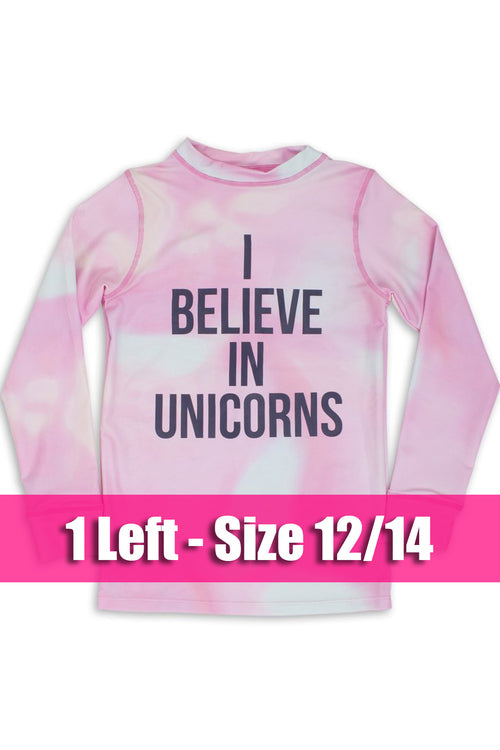 I Believe In Unicorns Rash Guard
