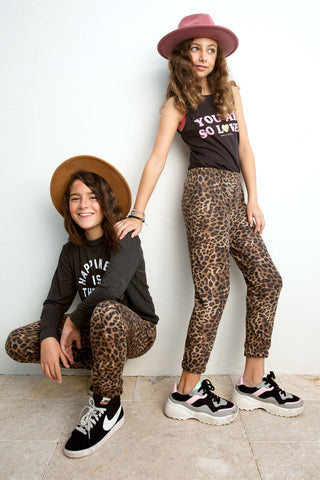 Perfect Cheetah Sweatpants from Spiritual Gangster Kids