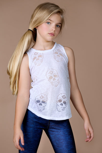 Sugar Skull Burnout Muscle Racerback