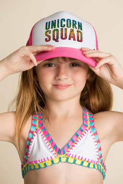 mother trucker unicorn squad hat