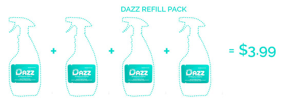 DAZZ Window & Glass Cleaner Tablet - Refill Kit
