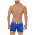 Mid Boxers Briefs Ritmo Solid Microfiber Summer Break
