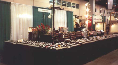 Our booth at a show